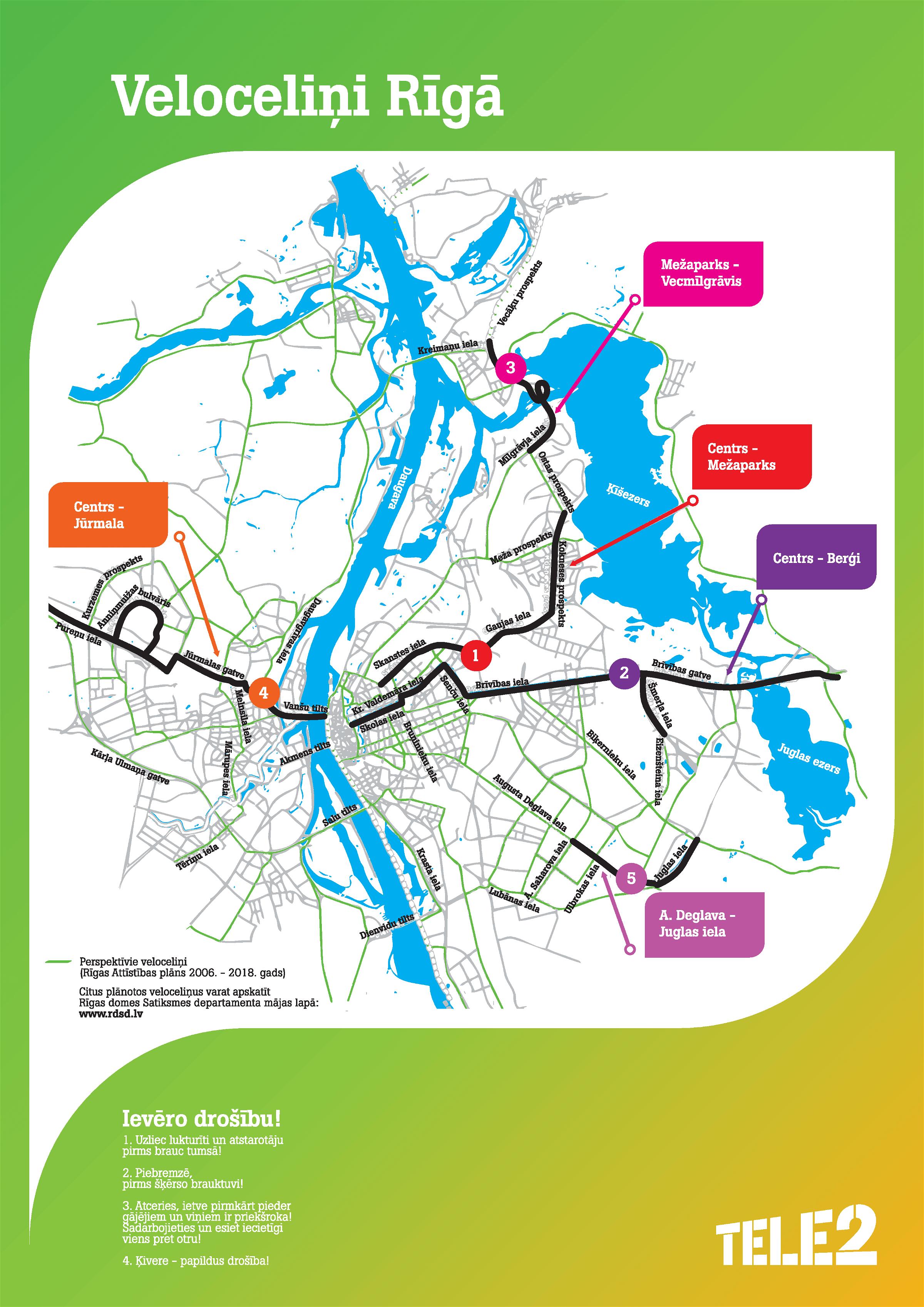 Riga Cycling Map Riga Guide